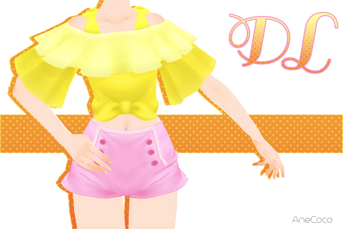 3d Art Girl Wallpaper Mmd Tie Front Top Download By Anecoco On Deviantart