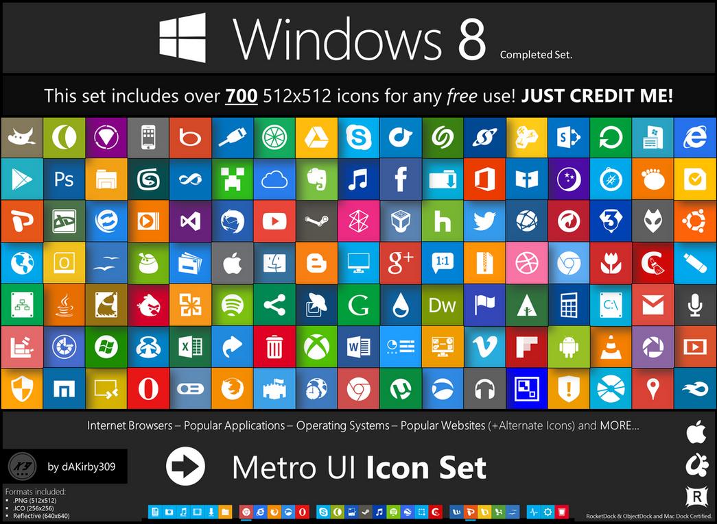 Metro Ui Icon Set 725 Icons By Dakirby309 On Deviantart