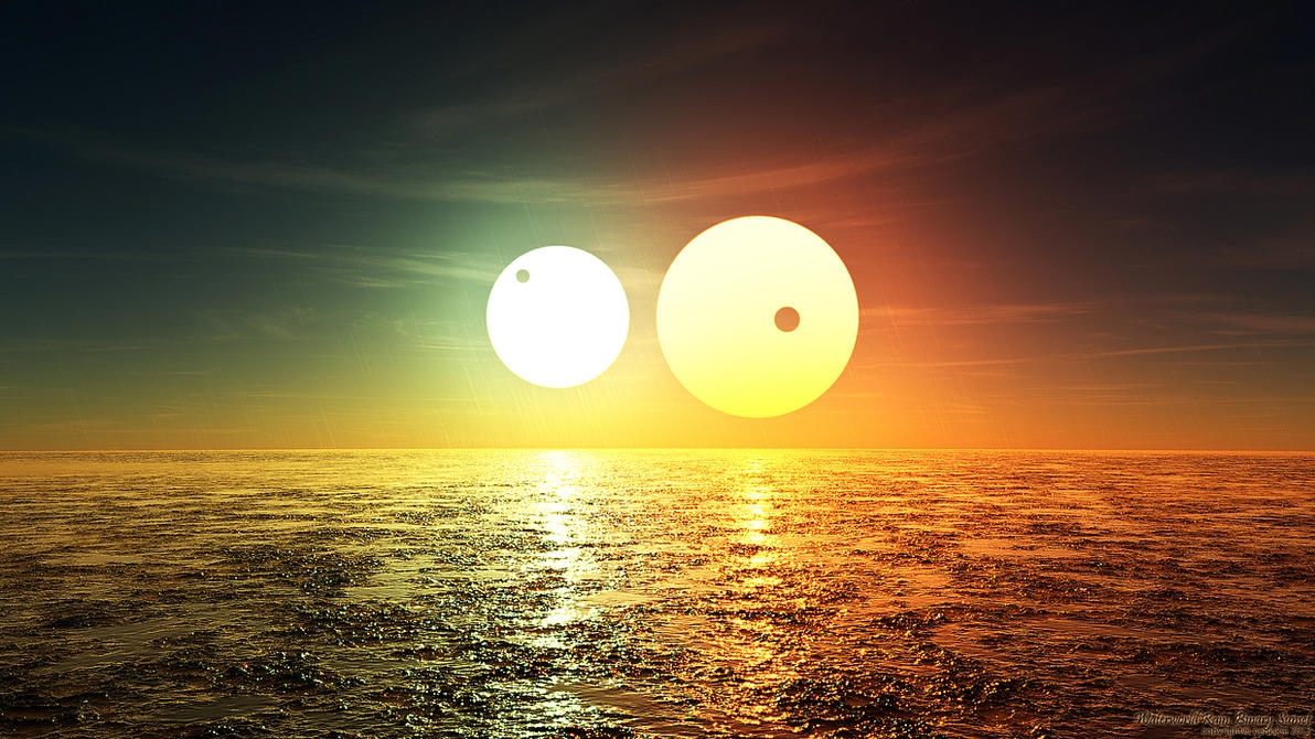 Animals Wallpapers For Mobile Free Download Waterworld Rain Binary Sunset By Nethskie On Deviantart