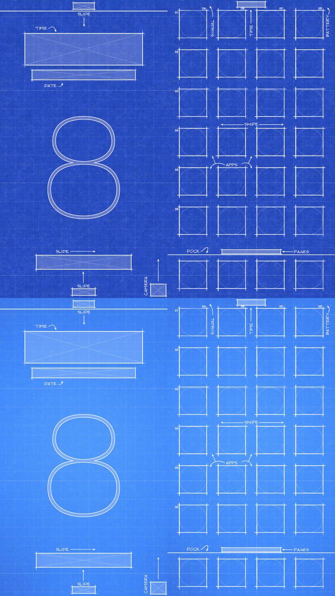 Blueprint Wallpaper Iphone 6 Iphone 6 Ios8 Blueprint Wallpaper By Jessemunoz On Deviantart
