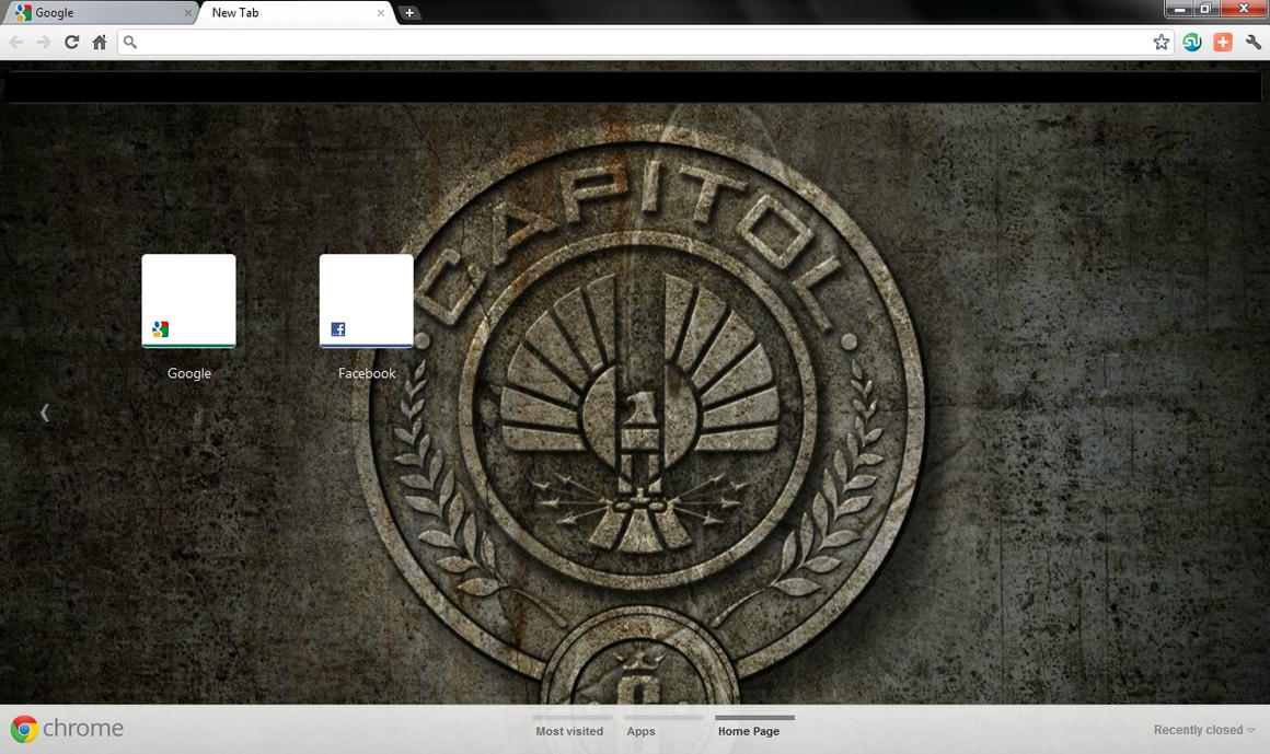 The hunger games chrome theme by stayunnoticed