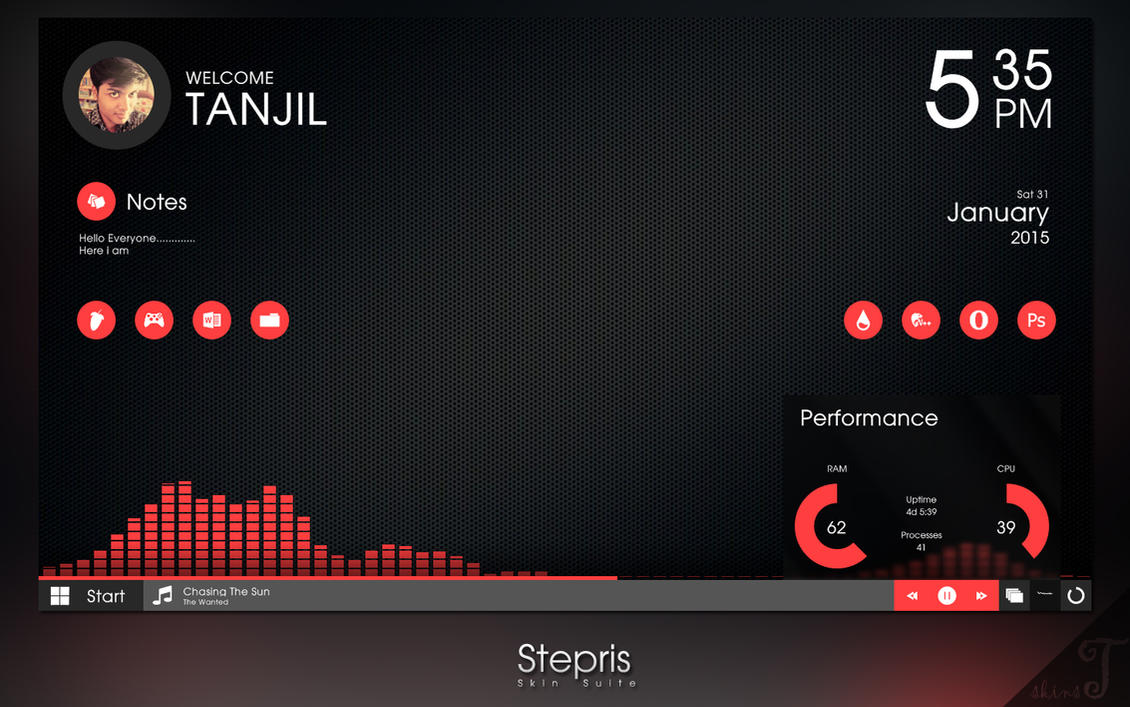Best 3d Wallpaper Download App Updated Stepris V1 3 For Rainmeter By T Projects On