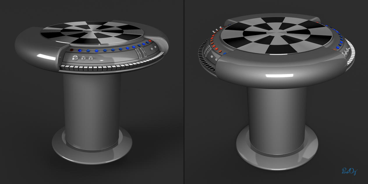 Nn 3d Wallpaper Star Wars Dejarik Holochess Table Blender 3d Model By