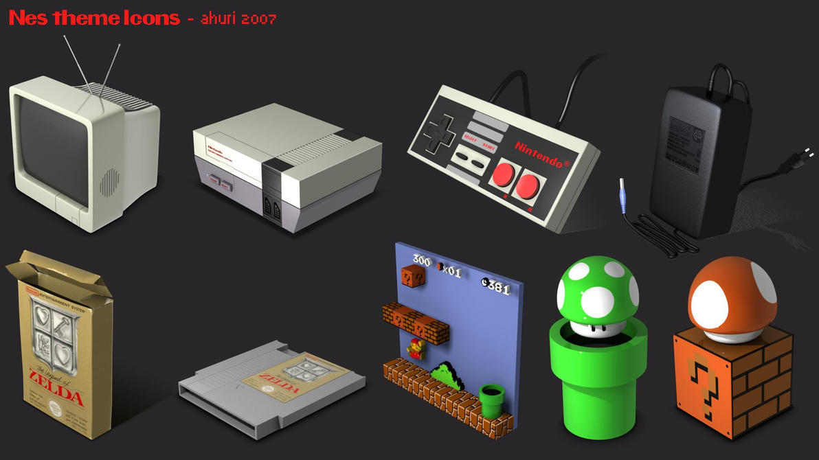 3d Wallpaper For Desktop Icon Nes Icons Pack By Ahuri On Deviantart