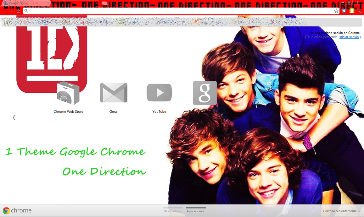 Theme google chrome one direction by pameosses