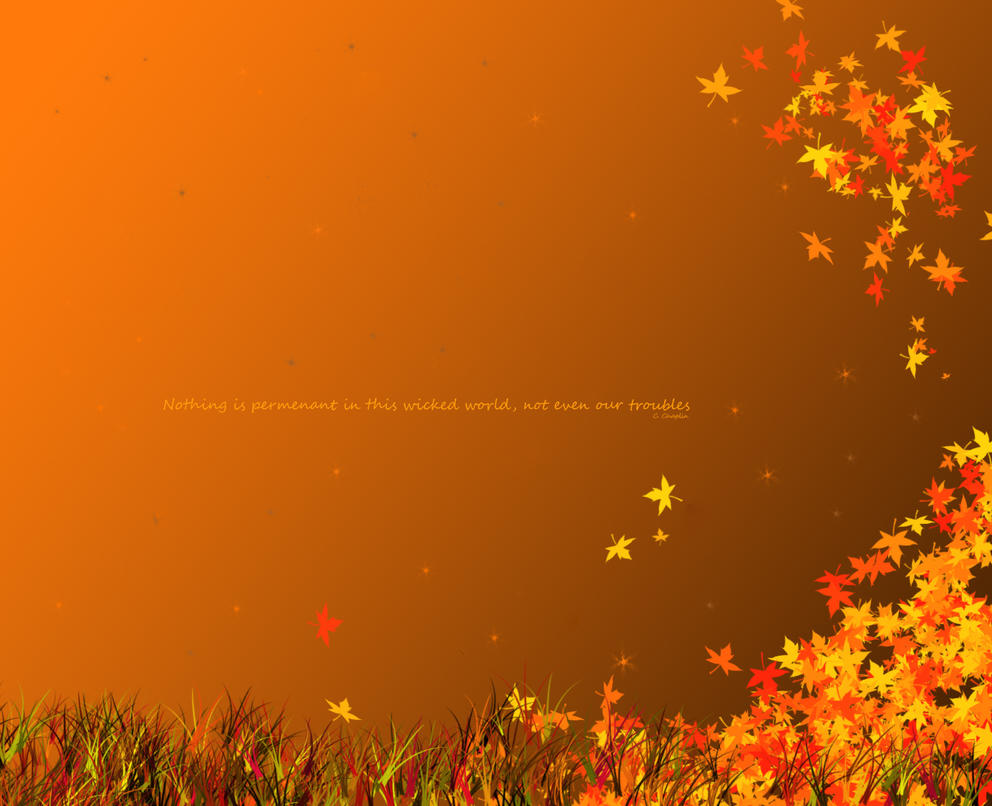 Fall Pumpkin Wallpaper Hd Autumn Quote By Brotheremo On Deviantart