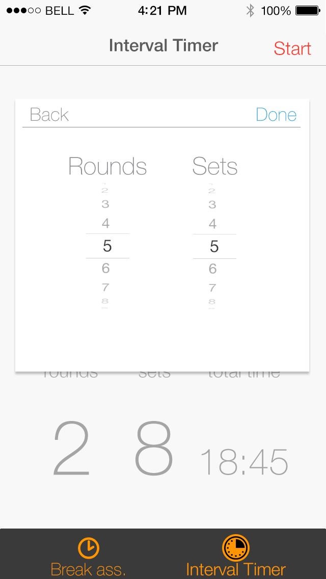 seconds interval timer on the app store