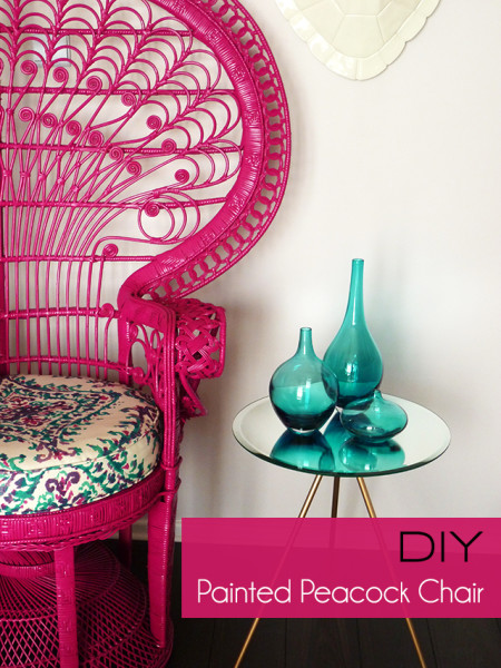 Chaises Empilables Ikea Diy : Painted Peacock Chair | Preciously Me