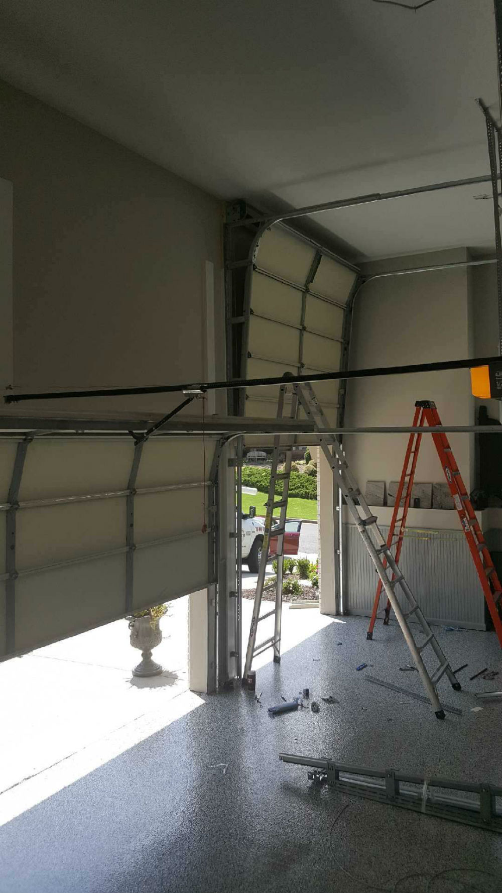In Ground Garage Car Lift High Lift Garage Door Conversions Installation Precision