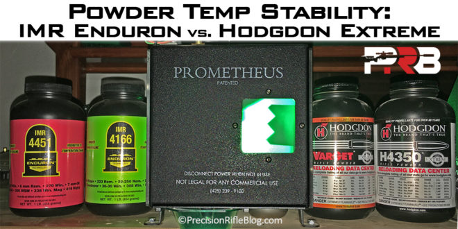 Powder Temp Stability Hodgdon Extreme vs IMR Enduron