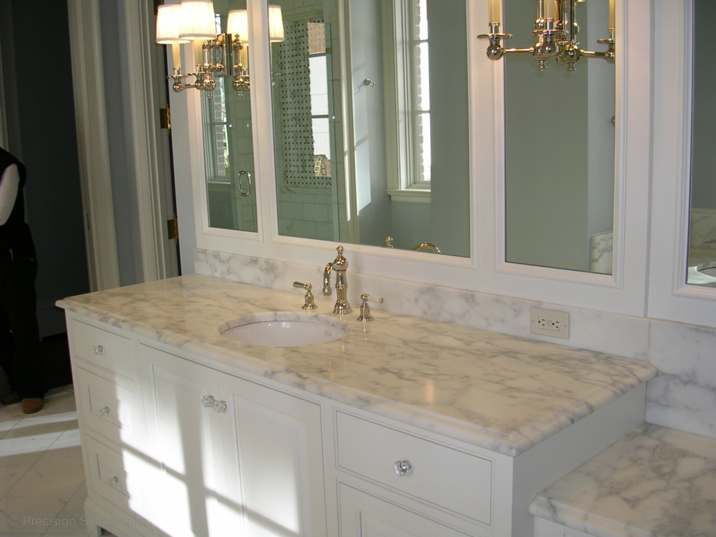 Bathrooms With Marble Countertops Bathrooms Precision Stoneworks