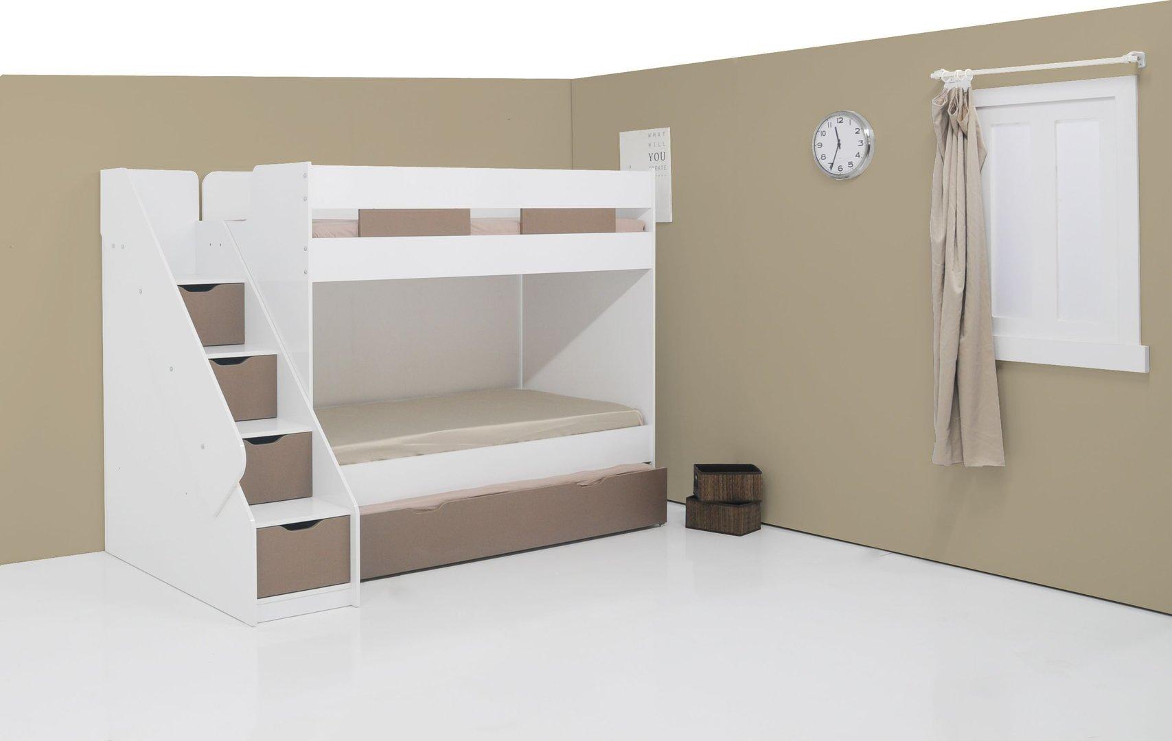 Etagenbett Klein : Ticaa einhÄngeregal fÜr hochbett etagenbett kiefer weiß klein mit
