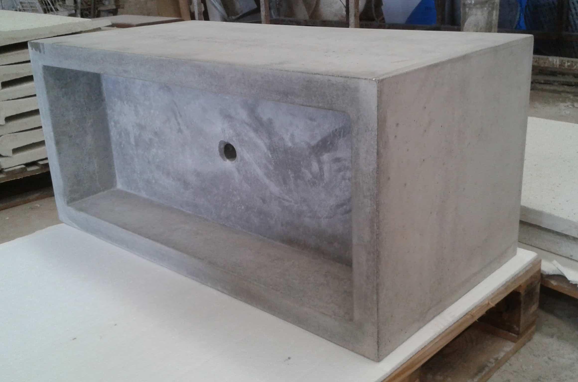 Lavabo Cemento | Lavabo Ceramica Rectangular Cielo Enjoy Terra Ceramica