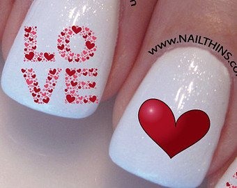 30 Lovely Heart Nail Art To Fill The Moment With Love