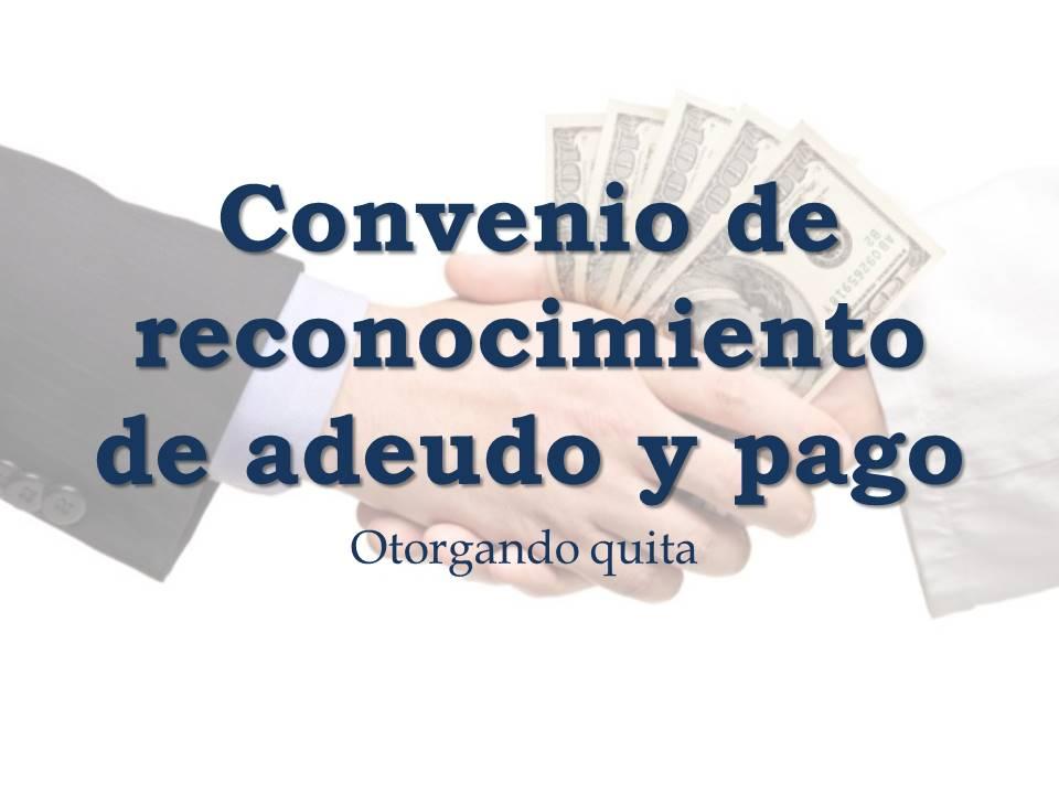 CONVENIO DE RECONOCIMIENTO DE ADEUDO Y PAGO CONVENIO \u2013 Legal Web