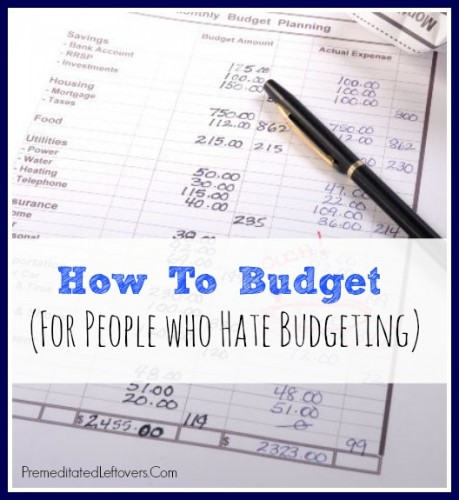 How to Budget - Tips For People Who Hate Budgeting - how do you make a receipt