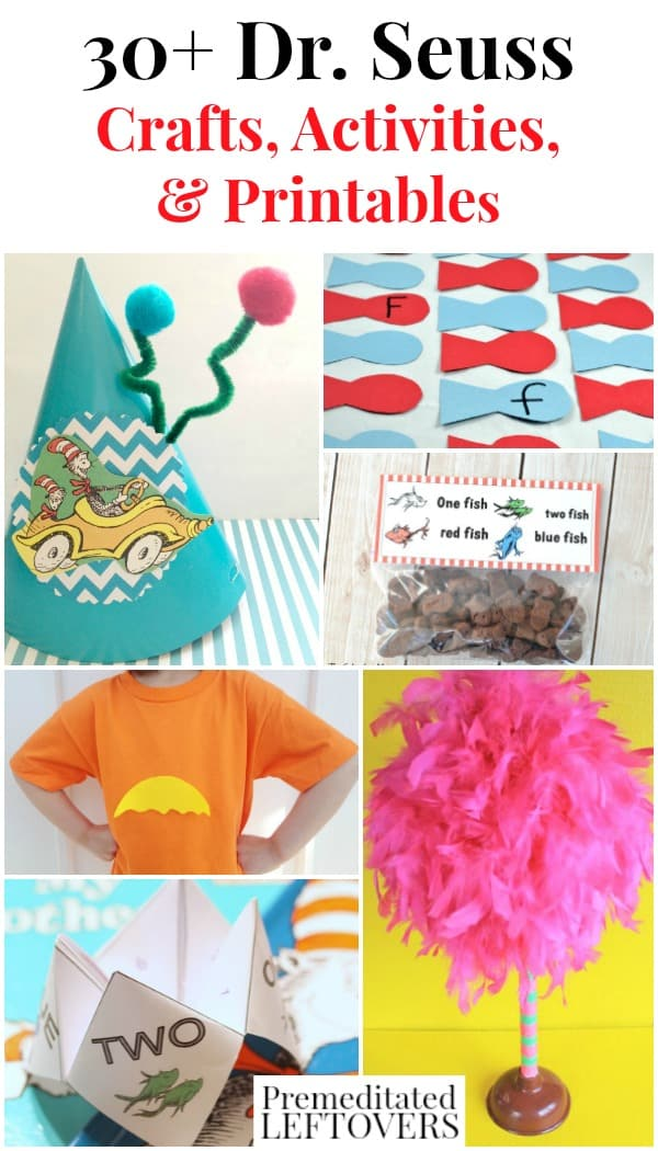 30+ Dr Seuss Crafts, Activities, and Printables
