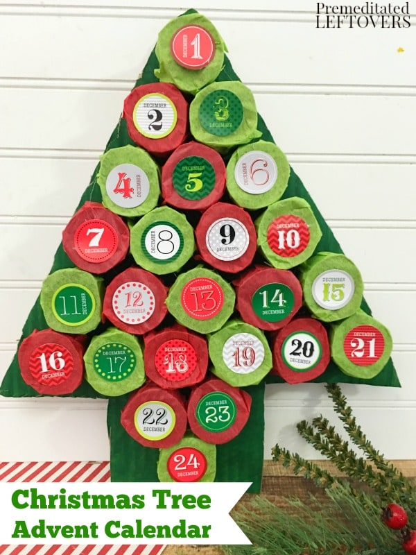 Make Your Own Calendar Recycled Paper Make Your Own Kitty Litter The Greenists Diy Christmas Tree Advent Calendar Tutorial Using Paper