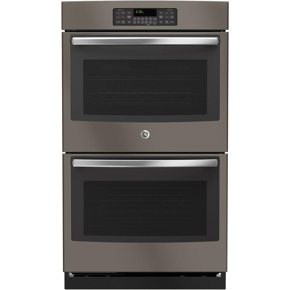 30 Wall Ovens Ge Jt3500ejes 30 In Double Electric Wall Oven Self Cleaning With Steam In Slate