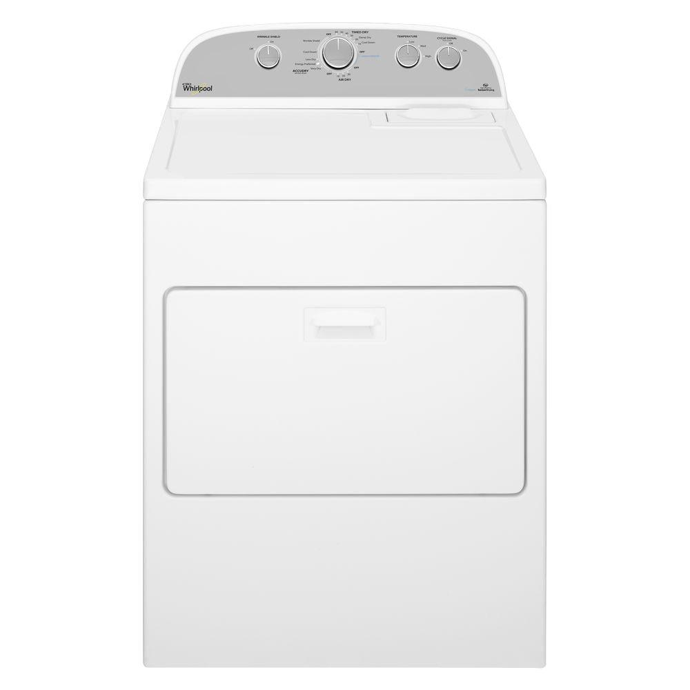 Whirlpool Wed49stbw 7 Cu Ft High Efficiency Electric - Whirlpool Steam Dryer