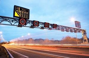 Bridge Maintenance On The M25 In Surrey