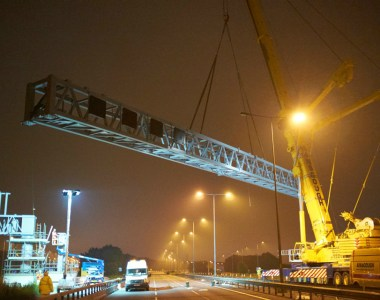 Superspan Gantries Arrive On M62 For Smart Motorway Project