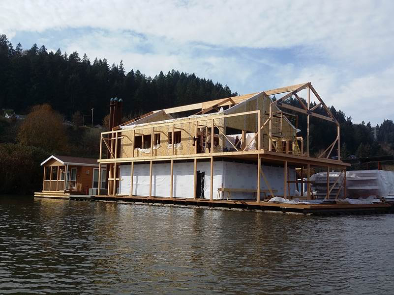 Premier sips proect feature lightweight sips saves Portland floating homes