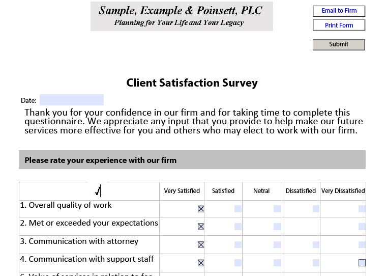 Client Satisfaction Survey\u201d PDF-FX Premier Software