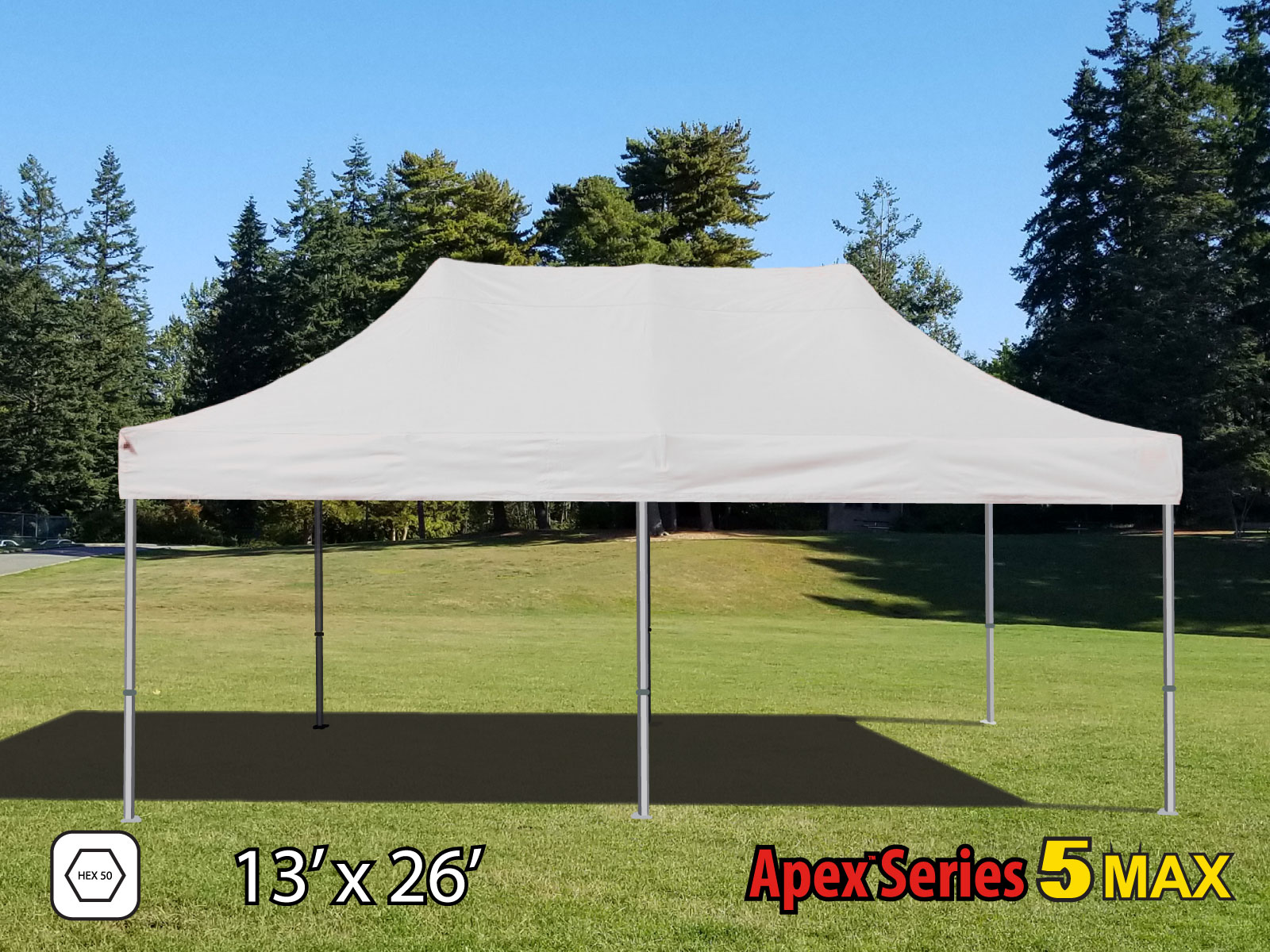 Pop Up Canopy 13x26 Apex Series 5 Pop Up Canopy With Hex Frame