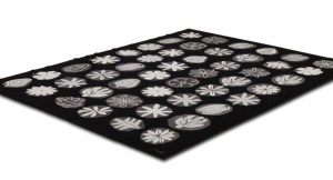 Flora Black Carpet