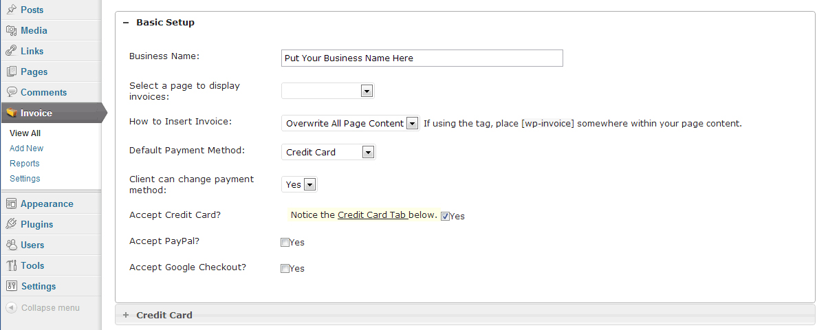 Direct Billing and Invoice Solution for WordPress with WP-Invoice