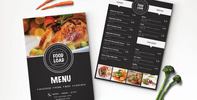 13 best selling menu templates for restaurants - PremiumCoding - party menu template