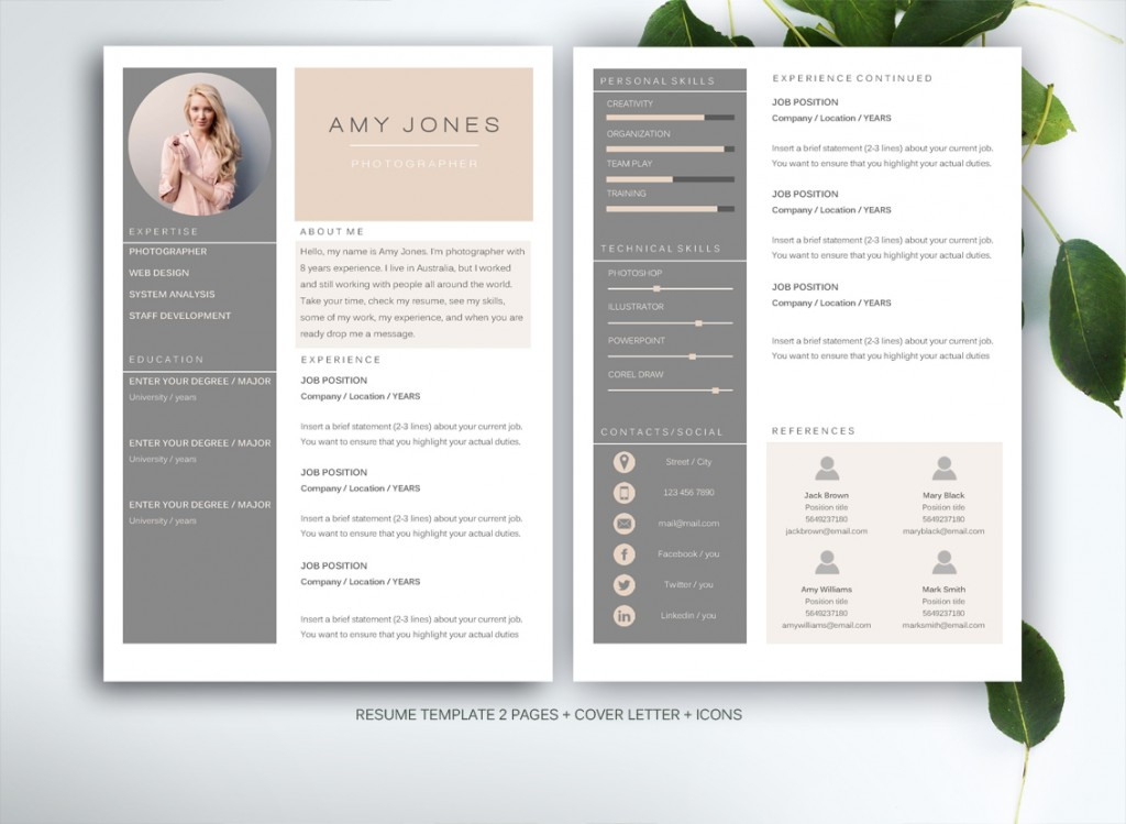design a cv on word