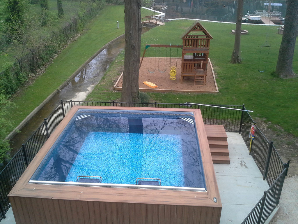 Jacuzzi Endless Pool Dual Propulsion Endless Pools Swim Spa