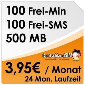 DeutschlandSIM ALL-IN 100 im O2-Netz am Samstag (20.04.2013)