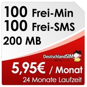 DeutschlandSIM ALL-IN 100 im Vodafone-Netz bei den Amazon-Blitzangeboten