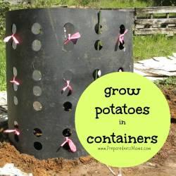 Supreme Containers Preparednessmama Diy Gardening Container Ideas Diy Gardening Containers Ways To Grow Potatoes