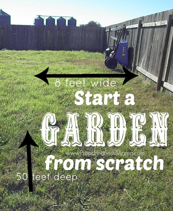 Starting A Garden From Scratch | Preparednessmama