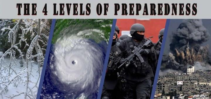 Prepper's Will - The 4 levels of preparedness