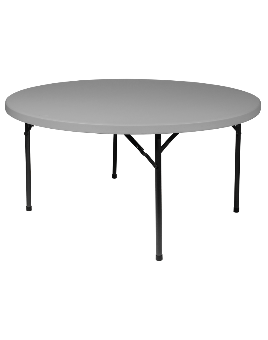 Round Plastic Tables 60 Inch Round Plastic Blow Mold Folding Table For Sale