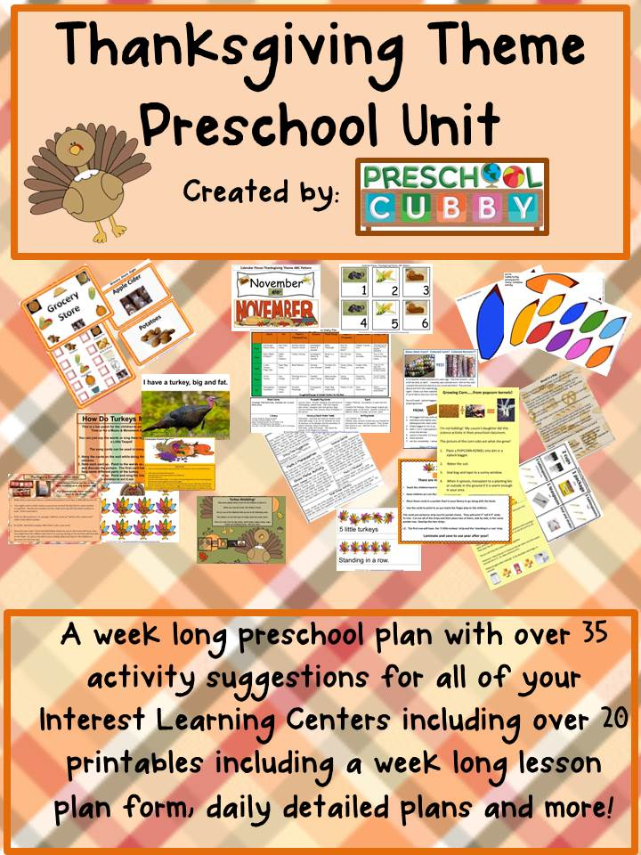 Infant Toddler Lesson Plan Themes Thanksgiving Theme Resource For Preschool