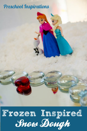 Frozen Small World in Snow Dough Sensory Play