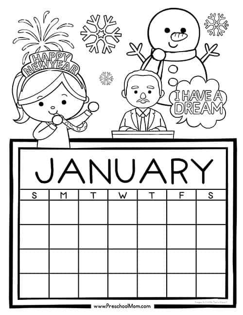 Preschool Monthly Calendar Printables - Preschool Mom