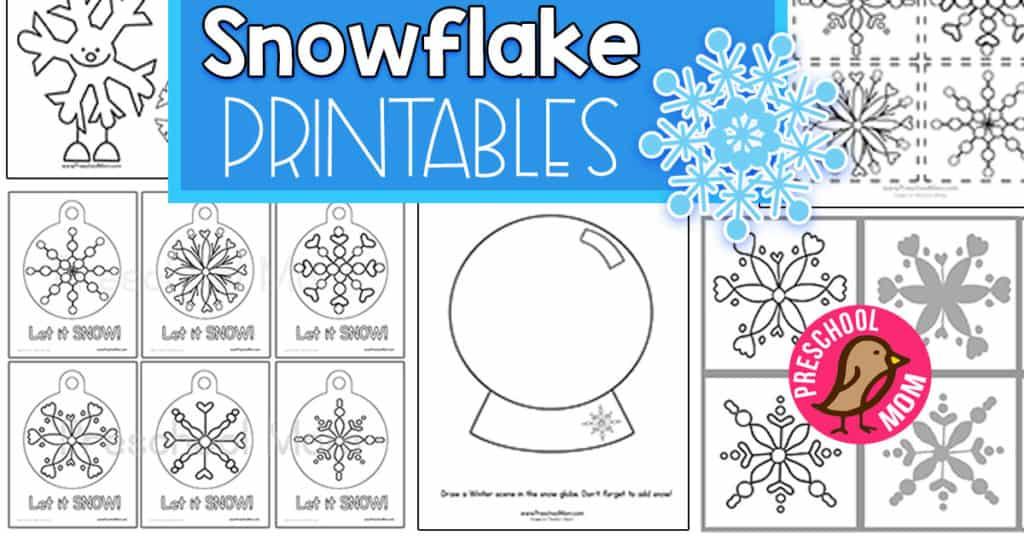 Snowflake Preschool Printables - Preschool Mom