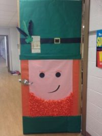 St. Patrick's Day door decoration idea