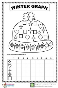 Winter graph worksheet for kids
