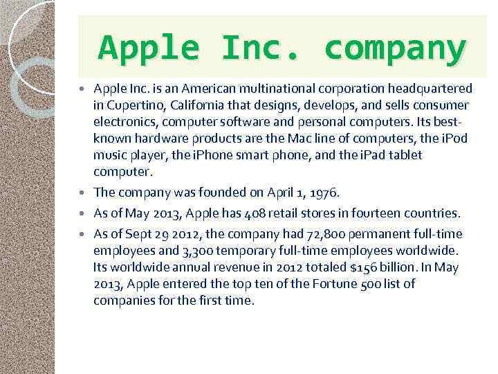 Apple inc is an american multinational corporation marketing essay