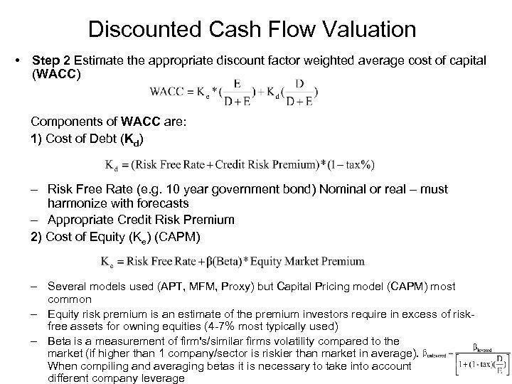 DCF MODEL Discount Cash Flow DCF Valuation - discounting cash flow
