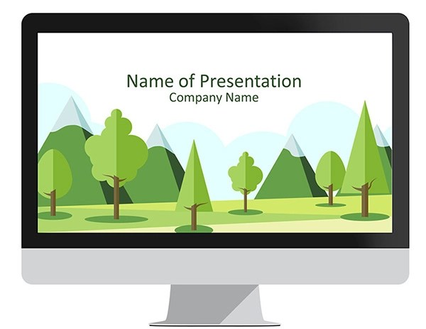 Green Leaves PowerPoint Template - PresentationDeck