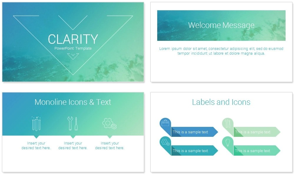 Clarity PowerPoint Template - PresentationDeck